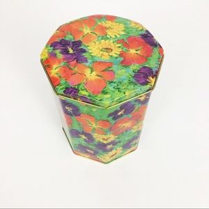 Floral Tin Can